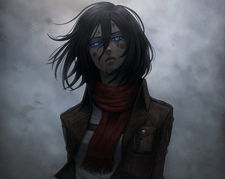 Mikasa Ackerman From Attack on Titan - The best black hair anime girl of the moment