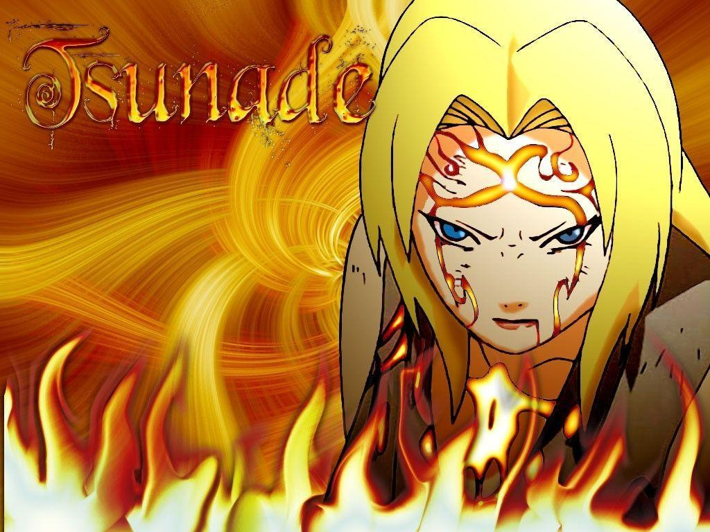 Tsunade from Naruto - The oldest blonde hair anime girl