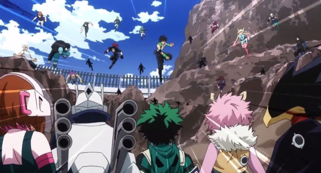 X/ MY HERO ACADEMIA ARCS: INTERIM LICENSE EXAM (Chapters 98 to 121 and 51 to 61 of the anime)